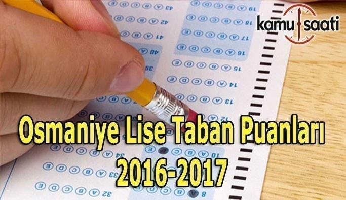 Osmaniye Lise Taban Puanları 2016-2017