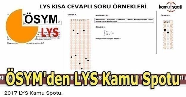ÖSYM'den LYS Kamu Spotu