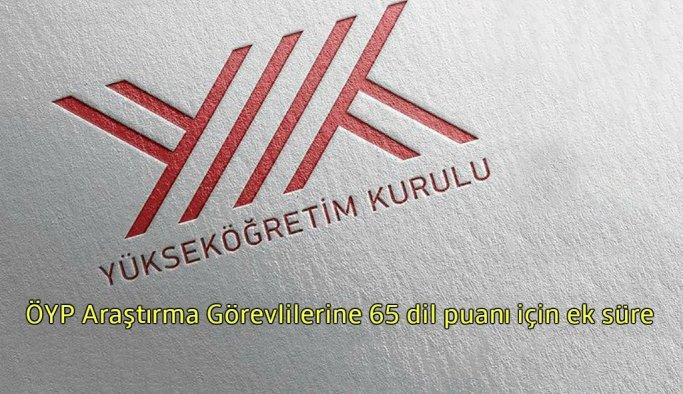 ÖYP'lilere 65 dil puanı için YÖK'ten bir yıl ek süre