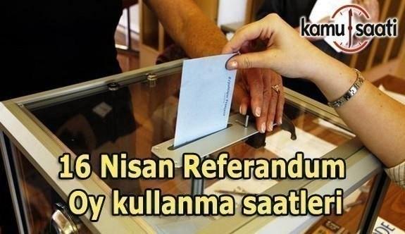 Referandum oy kullanma saatleri - Oy verme işlemi ne zaman sona erecek?