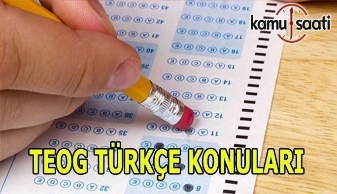 TEOG 2. Dönem Türkçe Konuları