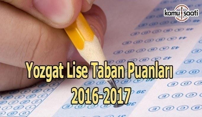 Yozgat Lise Taban Puanları 2016-2017