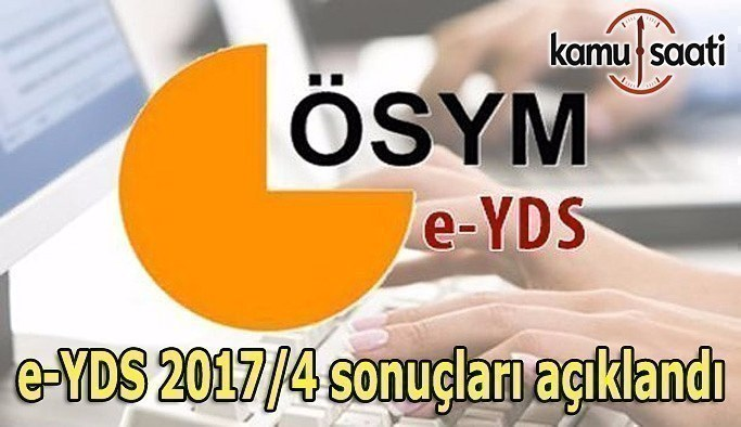 e-YDS 2017/4 sonuçları açıklandı