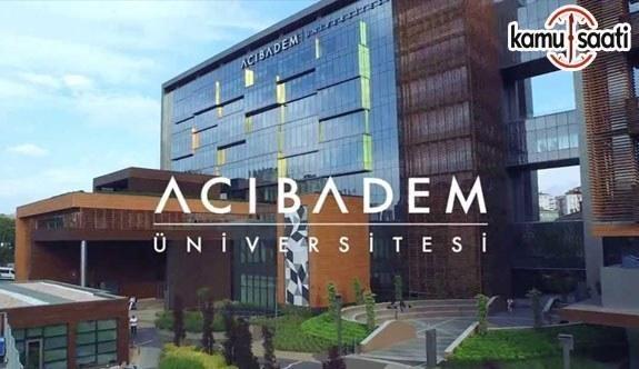 Acıbadem Üniversitesi Lisansüstü Eğitim, Öğretim ve Sınav Yönetmeliğinde Değişiklik