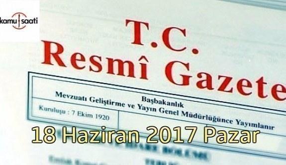 TC Resmi Gazete - 18 Haziran Pazar