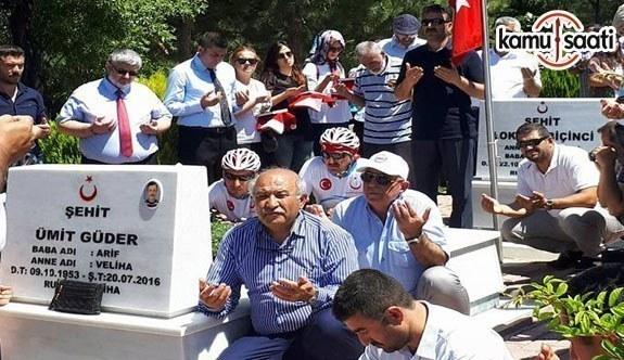 Memur-Sen Ankara İl Başkanı Kır, Kahramankazan'da 15 Temmuz şehitlerini ziyaret etti