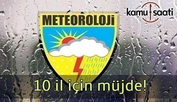 Meteorolojiden 10 il için yağmur müjdesi