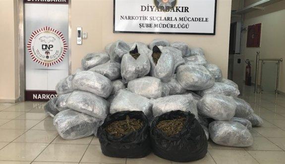 Diyarbakır'da 442 kilogram esrar ele geçirildi