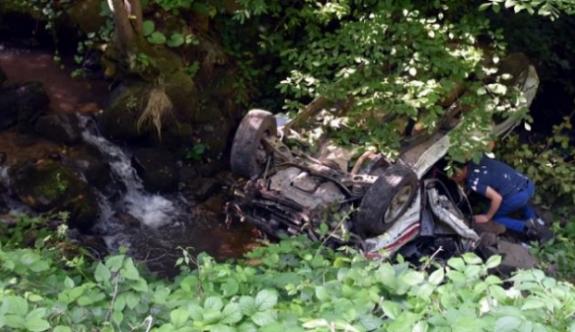 Sakarya'da kamyonet uçuruma yuvarlandı, 2 ölü 2 yaralı