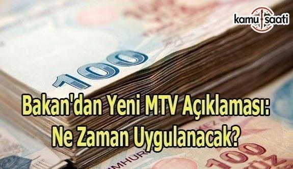 Ağbal'dan yeni MTV açıklaması: Ne zaman uygulanacak?