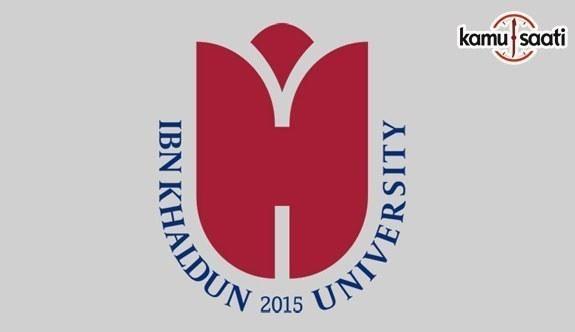 İbn Haldun Üniversitesi Lisans Eğitim-Öğretim ve Sınav Yönetmeliği ile Lisansüstü Eğitim ve Öğretim Yönetmeliği