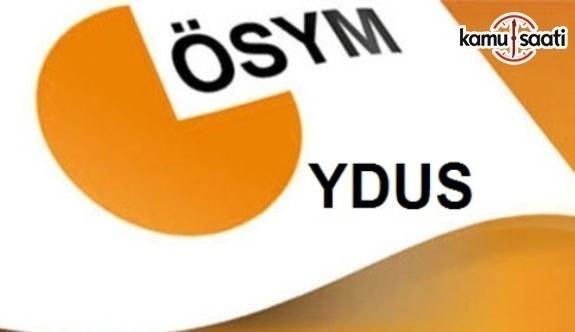 YDUS Yerleştirme Sonuçları açıklandı