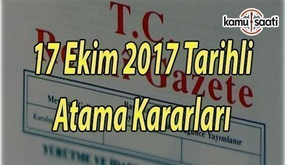17 Ekim 2017 Tarihli Atama Kararları