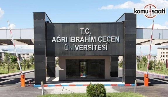 Ağrı İbrahim Çeçen Üniversitesi Ön Lisans ve Lisans Eğitim-Öğretim ve Sınav Yönetmeliğinde Değişiklik Yapıldı