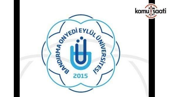 Bandırma Onyedi Eylül Üniversitesi Sürekli Eğitim Uygulama ve Araştırma Merkezi Yönetmeliği