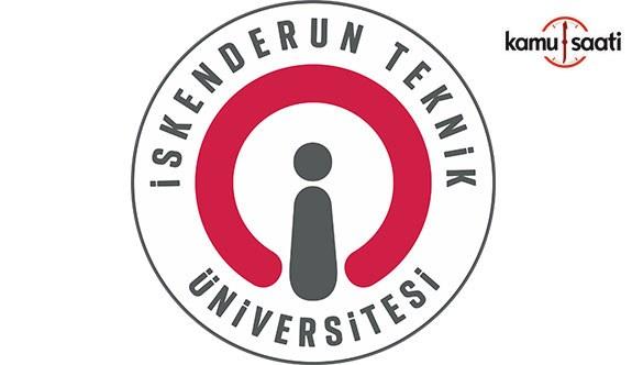 İskenderun Teknik Üniversitesi Bilim ve Teknoloji Uygulama ve Araştırma Merkezi Yönetmeliği