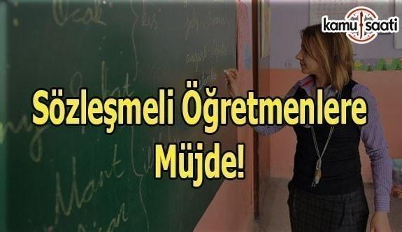 Sözleşmeli Öğretmenlere Müjde! - MEB'den Sözleşmeli Öğretmenlere ilişkin Resmi Yazı!