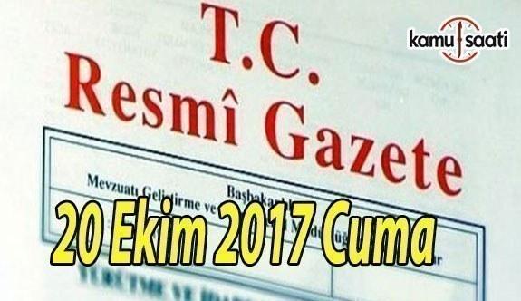 TC Resmi Gazete - 20 Ekim 2017 Cuma