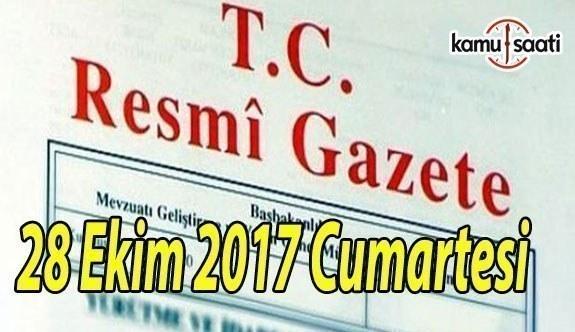TC Resmi Gazete - 28 Ekim 2017 Cumartesi