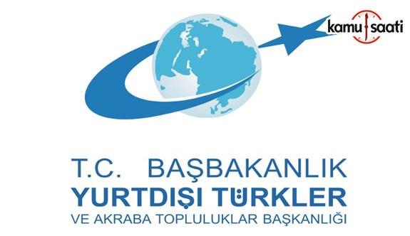 Yurtdışı Türkler ve Akraba Topluluklar Başkanlığı Yayın Yönetmeliği