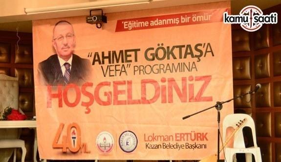 Eğitime bir ömür adamış Ahmet Göktaş, 5 Kasım 2017 Pazar günü vefat etti!