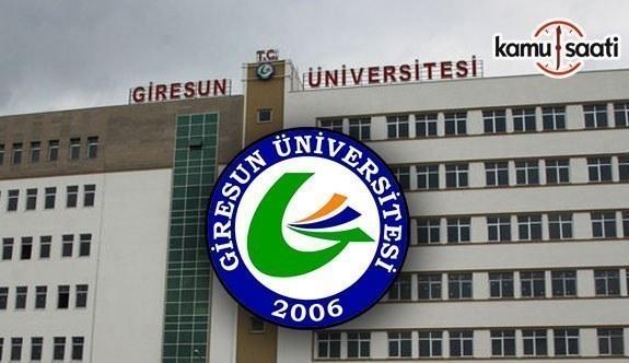 Giresun Üniversitesi Önlisans ve Lisans Eğitim-Öğretim ve Sınav Yönetmeliğinde Değişiklik Yapıldı - 19 Aralık 2017