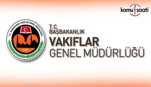 Vakıflar Genel Müdürlüğü Yükseköğrenim Burs Yönetmeliğinde Değişiklik Yapıldı - 5 Aralık 2017
