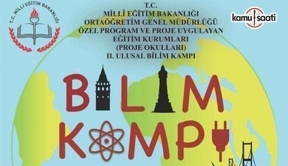 2. Ulusal Bilim Kampı başlıyor