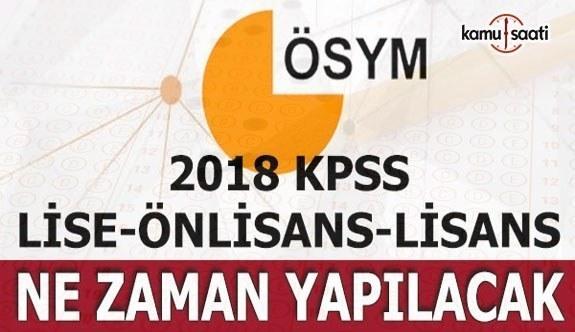 2018 KPSS Lisans ve Önlisans Sınav tarihleri belli oldu!