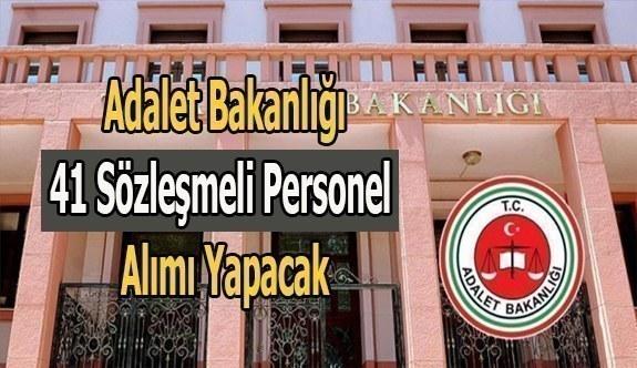 Adalet Bakanlığı 41 sözleşmeli personel alacak