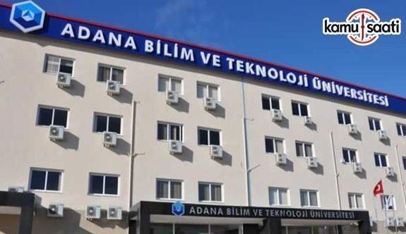 Adana Bilim ve Teknoloji Üniversitesi Teknoloji Transfer Ofisi Uygulama ve Araştırma Merkezi Yönetmeliği