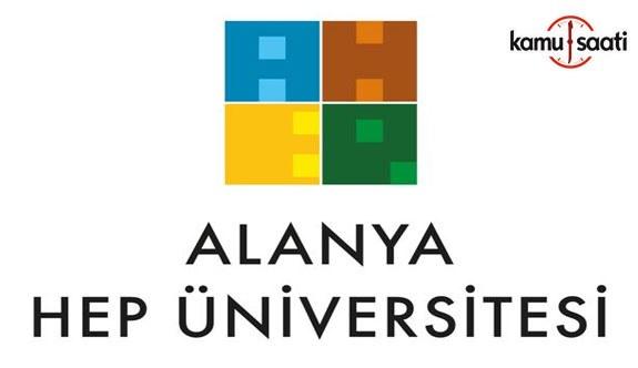 Alanya Hamdullah Emin Paşa Üniversitesi Lisans Eğitim Öğretim Yönetmeliğinde Değişiklik Yapıldı