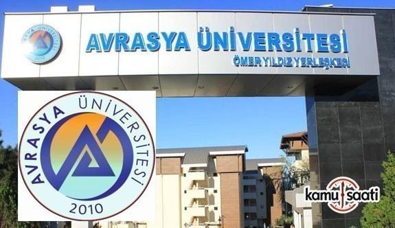 Avrasya Üniversitesi Lisansüstü Eğitim-Öğretim ve Sınav Yönetmeliğinde Değişiklik Yapıldı - 8 Ocak 2018 Pazartesi