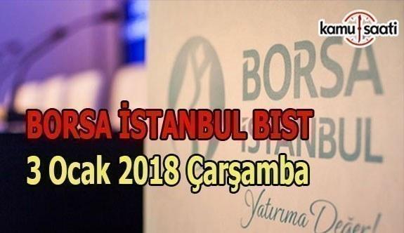 Borsa İstanbul BİST - 3 Ocak 2018 Çarşamba