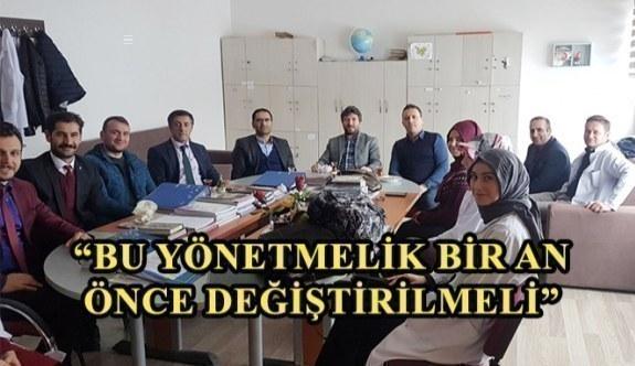 Eğitim-Bir-Sen Erzurum 2 No'lu Şube Başkanı Karataş: Bu yönetmelik bir an önce değiştirilmeli