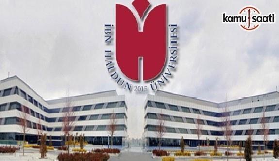 İbn Haldun Üniversitesi Çatışma Analizleri ve Barış Araştırmaları Uygulama ve Araştırma Merkezi Yönetmeliği