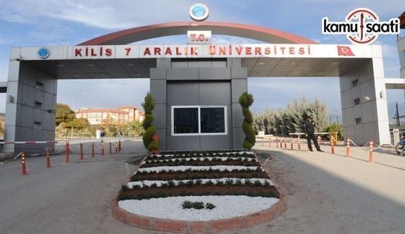 Kilis 7 Aralık Üniversitesi'ne ait 2 yönetmelik Resmi Gazete'de yayınlandı - 22 Ocak 2018