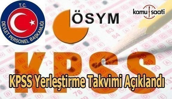 KPSS yerleştirme takvimi açıklandı