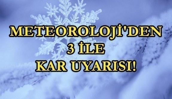 Meteoroloji'den 3 ile kar uyarısı! İstanbul...