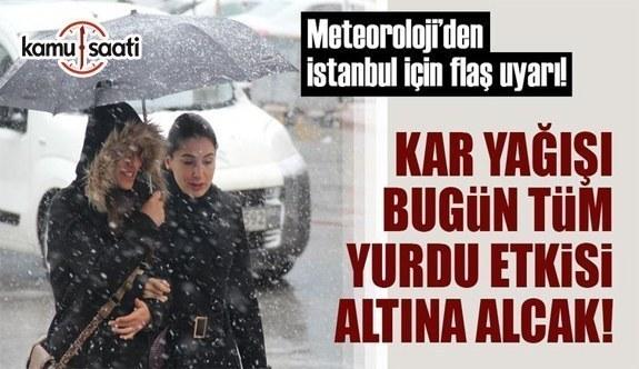 Meteoroloji'den yoğun kar yağışı ve sağanak uyarısı