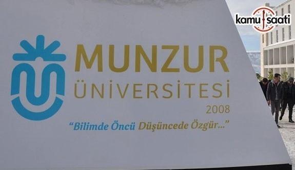 Munzur Üniversitesi Ön Lisans ve Lisans Eğitim-Öğretim Yönetmeliğinde Değişiklik Yapıldı