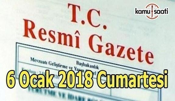 TC Resmi Gazete-6 Ocak 2018 Cumartesi