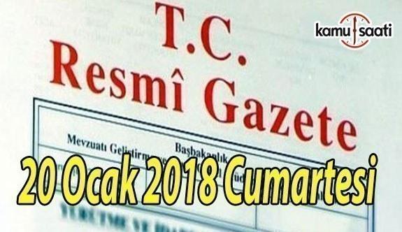 TC Resmi Gazete - 20 Ocak 2018 Cumartesi