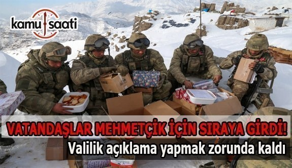 Valilik'ten Mehmetçik'e gönderilen kolilerle ilgili açıklama