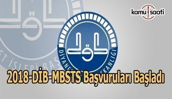 2018-DİB-MBSTS başvuruları alınacak