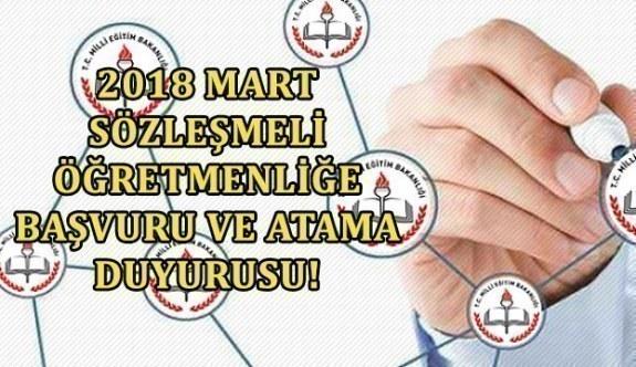 2018 Mart Sözleşmeli Öğretmenliğe Başvuru Ve Atama Duyurusu! MEB...