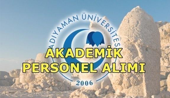 Adıyaman Üniversitesi akademik personel alım ilanı
