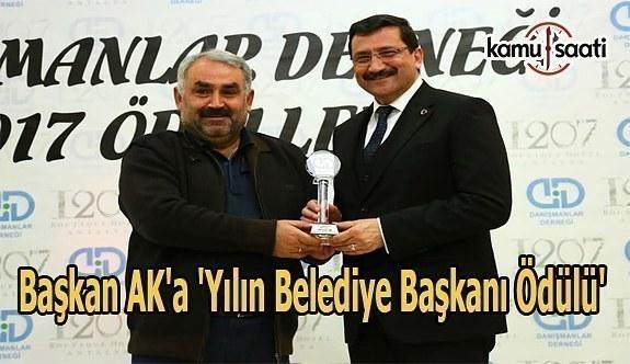 Başkan Ak'a 'Yılın Belediye Başkanı Ödülü'