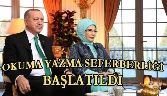 Cumhurbaşkanı Erdoğan'dan okuma yazma seferberliği