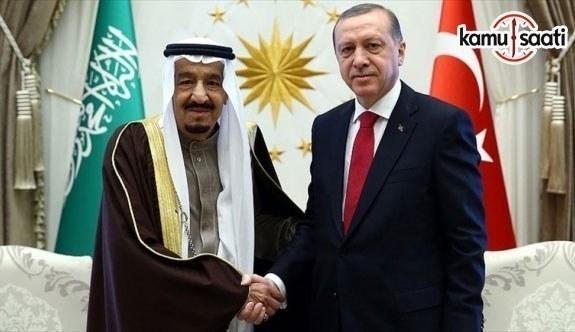 Cumhurbaşkanı Erdoğan ile Suudi Arabistan Kralı Selman telefonda görüştü